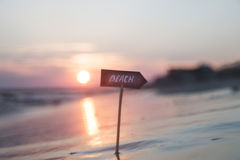 beaches resorts concept, sunset, blurred photo for background Stock Images