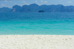 Beaches, rocks and sand. Beautiful white sand beaches, rocks and tablets Stock Photography