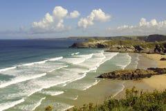 Scenic Cornwall, Newquay Royalty Free Stock Photo