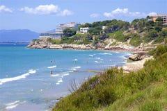 Beaches of Salou, Spain. Beautiful beaches of Salou, Catalunya, Spain stock images
