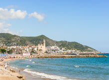 Beaches in Sitges, Catalonia Spain Royalty Free Stock Images