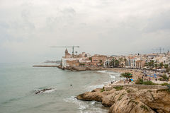 Beaches in Sitges, Spain Royalty Free Stock Photography