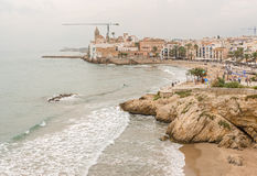 Beaches in Sitges, Spain Stock Photos