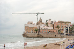 Beaches in Sitges, Spain Royalty Free Stock Images