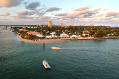 Beaches & skyline of the waterfront of Fort Lauderdale, Florida, Royalty Free Stock Images