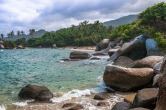 Beaches of Tayrona national park, Colombia Stock Images