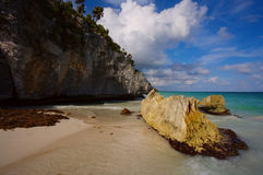 Beaches at Tulum Stock Photos