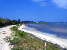 Beaches of Utila. Long beach on the famous backpacker island in the Bay Islands Stock Photography