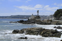 Beaches of Valparaiso, Vina Del Mar, Chile Royalty Free Stock Images