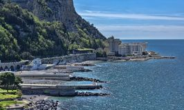Beaches of Vico Equense, from Sorrento peninsula. Italy Royalty Free Stock Image