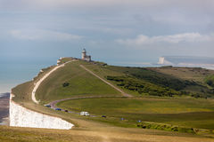 BEACHEY HEAD, SUSSEX/UK - MAY 11 :  The Belle Toute Lighthouse a Royalty Free Stock Photography