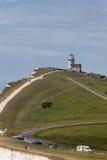 BEACHEY-HUVUD, SUSSEX/UK - MAJ 11: Belle Toute Lighthouse a Arkivbilder
