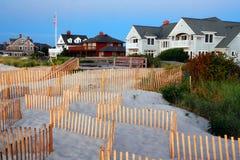 beachfront σπίτια στοκ εικόνες