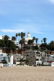 Beachfront buildings. Beachfront buildings, Santa Monica, California Stock Photo