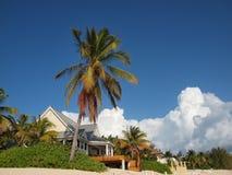 beachfront caymanhusöar Arkivbild