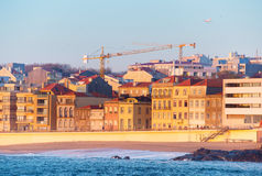 Beachfront city district. Porto, Portugal Royalty Free Stock Photography