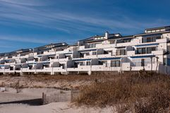 Beachfront condos Royalty Free Stock Photography