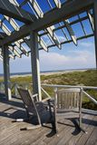 Beachfront deck Stock Photography