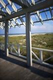 Beachfront deck on Bald Head Island. Beachfront deck with trelliswork on Bald Head Island, North Carolina Royalty Free Stock Photos