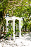 Beachfront Garden Arbor Royalty Free Stock Images