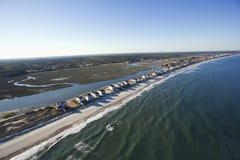 Beachfront homes. Royalty Free Stock Image