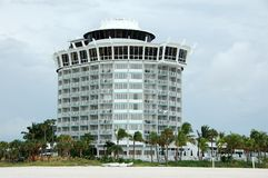 Beachfront hotel in Florida Royalty Free Stock Images
