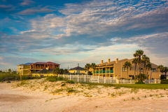 Beachfront hotel at St. Augustine Beach, Florida. Royalty Free Stock Photo