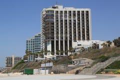 Beachfront hotell på Acadia sätter på land i Herzliya, Israel Royaltyfria Foton
