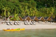 beachfront hotelllyx Arkivbilder
