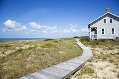 Beachfront house. stock photo