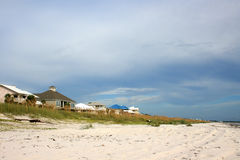 Beachfront houses. With white sand in Florida Stock Photos