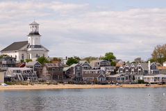 Beachfront houses in Provincetown, Cape Cod royalty free stock photography