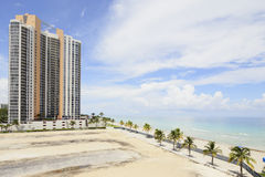 Beachfront land for highrise construction Stock Images