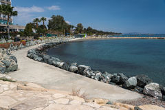 Beachfront at Limassol south Cyprus Stock Image