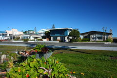 Beachfront living in Westshore, Hawkes Bay, New Zealand Royalty Free Stock Images