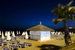 Beachfront at night Royalty Free Stock Images