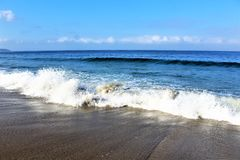 Beachfront på den Hermosa stranden Kalifornien i Los Angeles County, Kalifornien, Förenta staterna royaltyfri foto