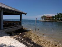 Beachfront Pavilions On Gulf Coast Florida Royalty Free Stock Photo