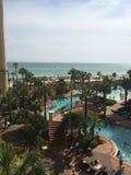 Beachfront Pool Stock Image