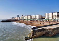 Beachfront And Promenade, Brighton Royalty Free Stock Photo