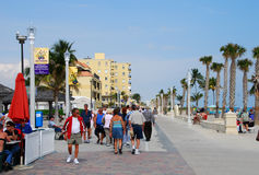 Beachfront promenade in Hollywood, Florida Royalty Free Stock Image