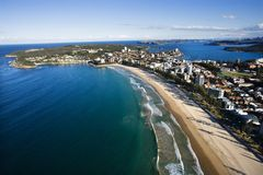 Beachfront property aerial. royalty free stock image