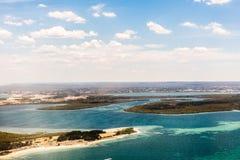 Beachfront property aerial Stock Photos