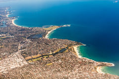 Beachfront property aerial Stock Photography