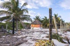 Beachfront property stock image