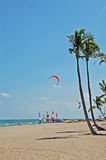 Beachfront resort. Beach watersports at tropical destination Stock Photos