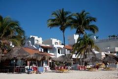 Beachfront Resorts. At Playa del Carmen, Mexico royalty free stock image