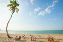 Beachfront restaurant Stock Photo