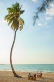 Beachfront restaurant Stock Photography