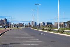 Beachfront Road Heading Towards Durban City Skyline Stock Photo